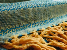 Mexican Rebozo Shawl - Honey Aqua - Rebozo Shop Lola My Love