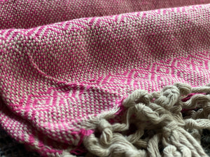 Mexican Rebozo Shawl - Pink Yute Mexicano - Rebozo Shop Lola My Love