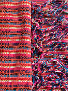Mexican Rebozo Shawl - Coral Rainbow - Rebozo Shop Lola My Love