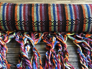 Mexican Rebozo Shawl - Black Rainbow - Rebozo Shop Lola My Love