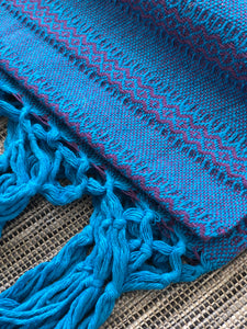 Mexican Rebozo Shawl - Blue Blessing - Rebozo Shop Lola My Love