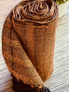 XL Baby Carrier (Fular) Mexican Rebozo Shawl - Joyful Saffron - Rebozo Shop Lola My Love