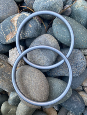 Large Aluminum Sling Ring- Dark Silver