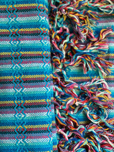 Mexican Rebozo Shawl - Caribbean Rainbow - Rebozo Shop Lola My Love