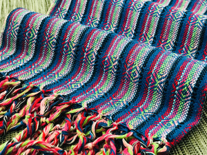 Mexican Rebozo Shawl - Self Expression Chakra - Rebozo Shop Lola My Love