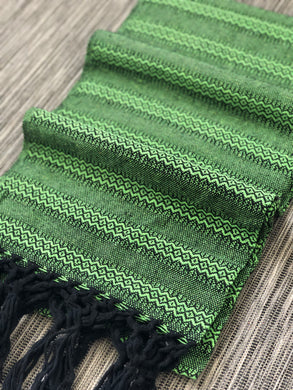 Mexican Rebozo Shawl - Green Velvet