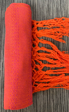 Mexican Rebozo Shawl - Orange Lilac