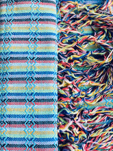 Mexican Rebozo Shawl - Arctic Blue Rainbow - Rebozo Shop Lola My Love