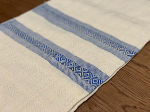 Unique Piece- Mexican Motif Rebozo Shawl - Blue Fusion