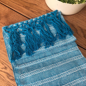 Mexican Rebozo Shawl- Blue Light