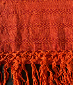 UNIQUE Mexican Rebozo Shawl - Bright Orange