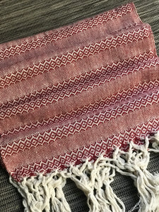 UNIQUE PIECE Mexican Rebozo Shawl - Terracotta My Love - Rebozo Shop Lola My Love