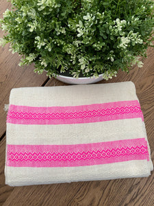 Mexican Motif Rebozo Shawl - Pink Lollipop
