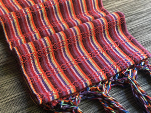 Mexican Rebozo Shawl - Red Rainbow - Rebozo Shop Lola My Love