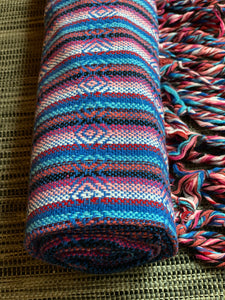 Mexican Rebozo Shawl - Ocean Rainbow - Rebozo Shop Lola My Love