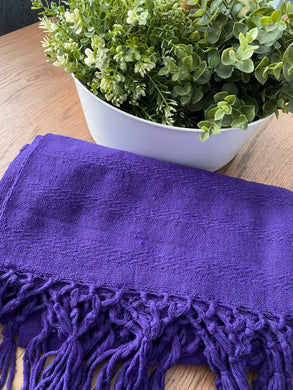 Mexican Rebozo Shawl - Purple Bloom