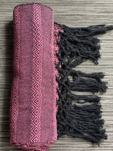Mexican Rebozo Shawl - Light Pink & Black