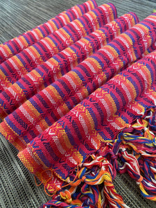 UNIQUE PIECE-Mexican Rebozo Shawl - Lovely Rainbow