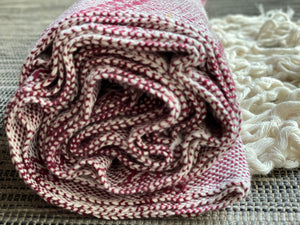 Mexican Rebozo Shawl - White Cherry - Rebozo Shop Lola My Love