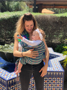 Unique Piece- Mexican Baby Ring Sling - Hush, Little Baby - Rebozo Shop Lola My Love