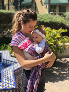 Unique Piece- Mexican Baby Ring Sling - Humpty Dumpty - Rebozo Shop Lola My Love