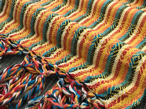 Mexican Rebozo Shawl - Yellow Brick Rainbow - Rebozo Shop Lola My Love