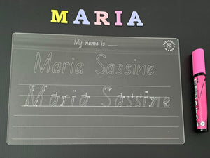Trace and Wipe Name board