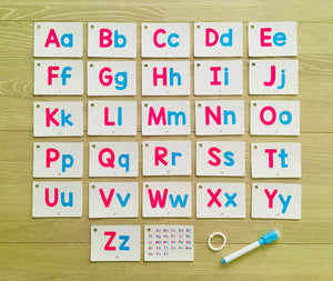 Mini Alphabet Flash Cards (trace and wipe)