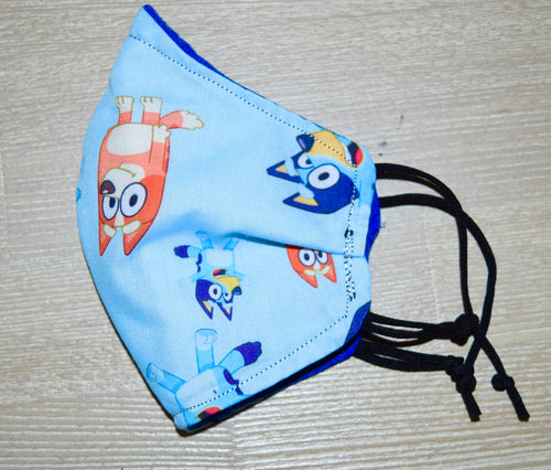 Bluey and Bingo Kids Cotton Masks - Small (3-5 years)