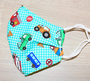 Transport Kids Cotton Mask - Small (3-5 years)