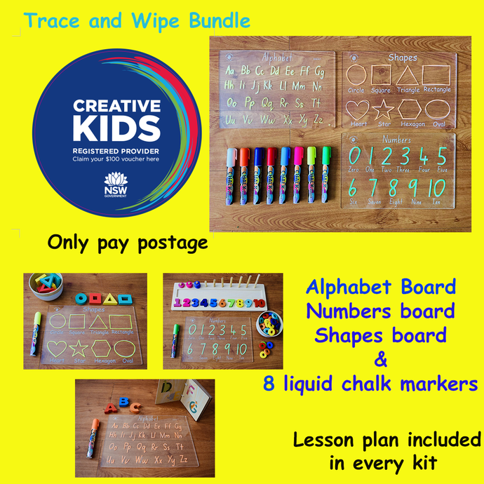 NSW CREATIVE KIDS TRACE AND WIPE BUNDLE