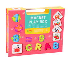Load image into Gallery viewer, Magnet Play Box - Words and Numbers