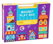 Load image into Gallery viewer, Magnet Play Box - Houses
