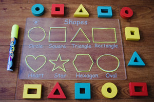 Trace and Wipe Shapes Board