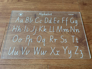 Trace and Wipe Alphabet boards