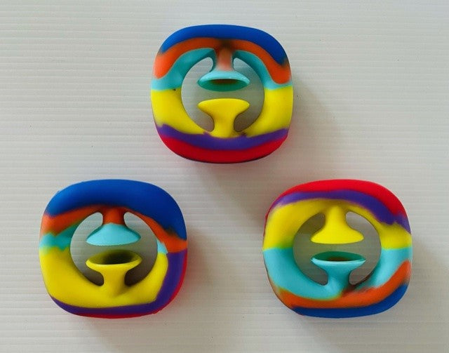 Rainbow Snap It Fidget toy