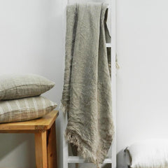 Hand Loomed Linen Throw