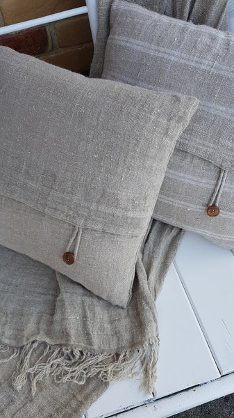 Hand Loomed Linen Cushion