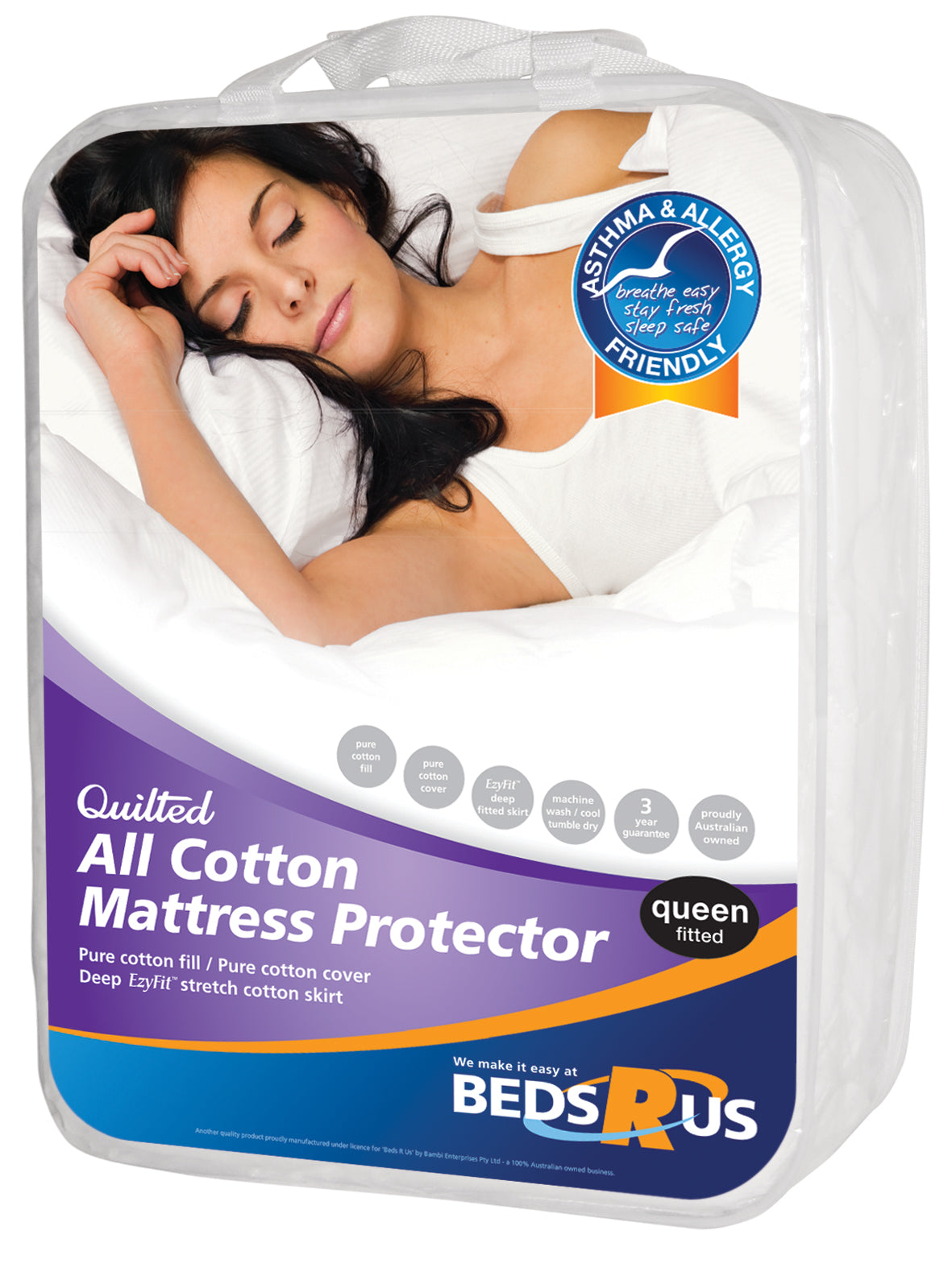 Beds R Us All Cotton Mattress Protector