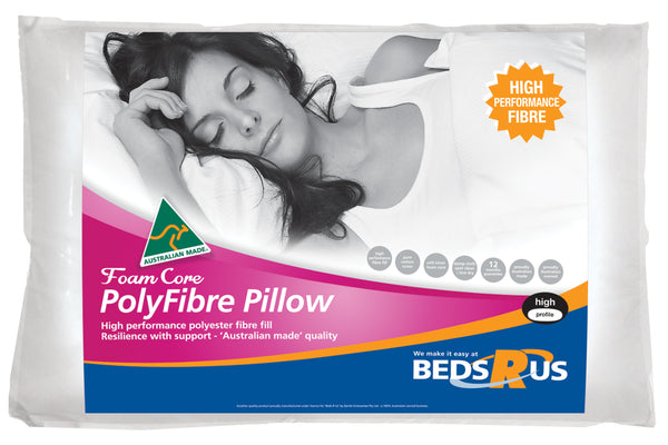 Beds R Us Foam Core Poly Fibre Pillow