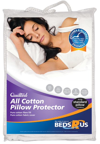 Beds R Us All Cotton Pillow Protector