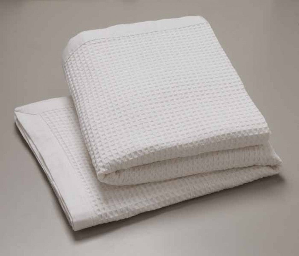 Pure Natural Cotton Waffle Blanket
