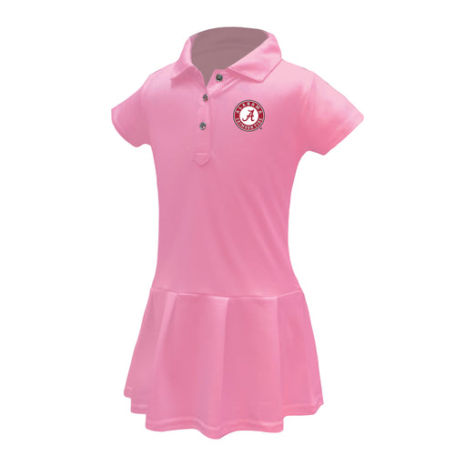 Alabama Crimson Tide Girls Infant & Toddler Celebration Short Sleeve Polo Dress - Solid Pink