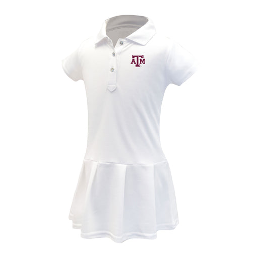 Texas A&M Aggies Girls Infant & Toddler Celebration Short Sleeve Polo Dress - White