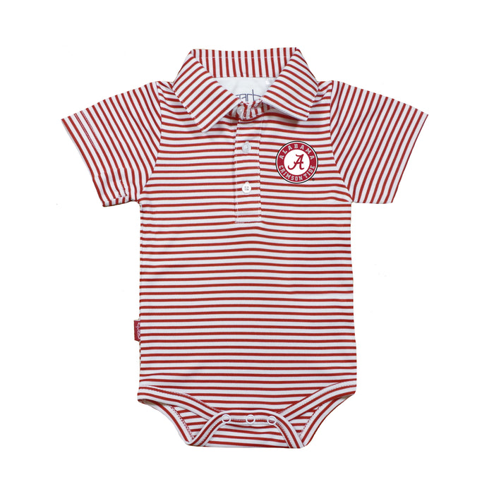 1e1f7afae Alabama Crimson Tide Infant Striped Polo Bodysuit - Red/White ...
