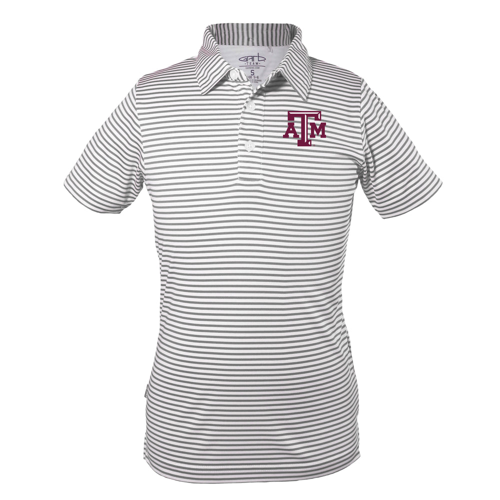 Texas A&M Aggies Early Season Sideline Quality Performance Polo – Charcoal & White