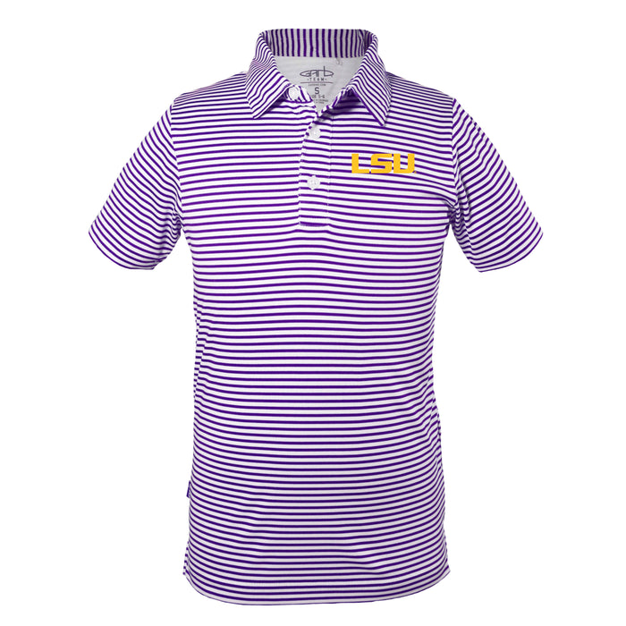 LSU Tigers Early Season Sideline Quality Performance Polo – Purple/White
