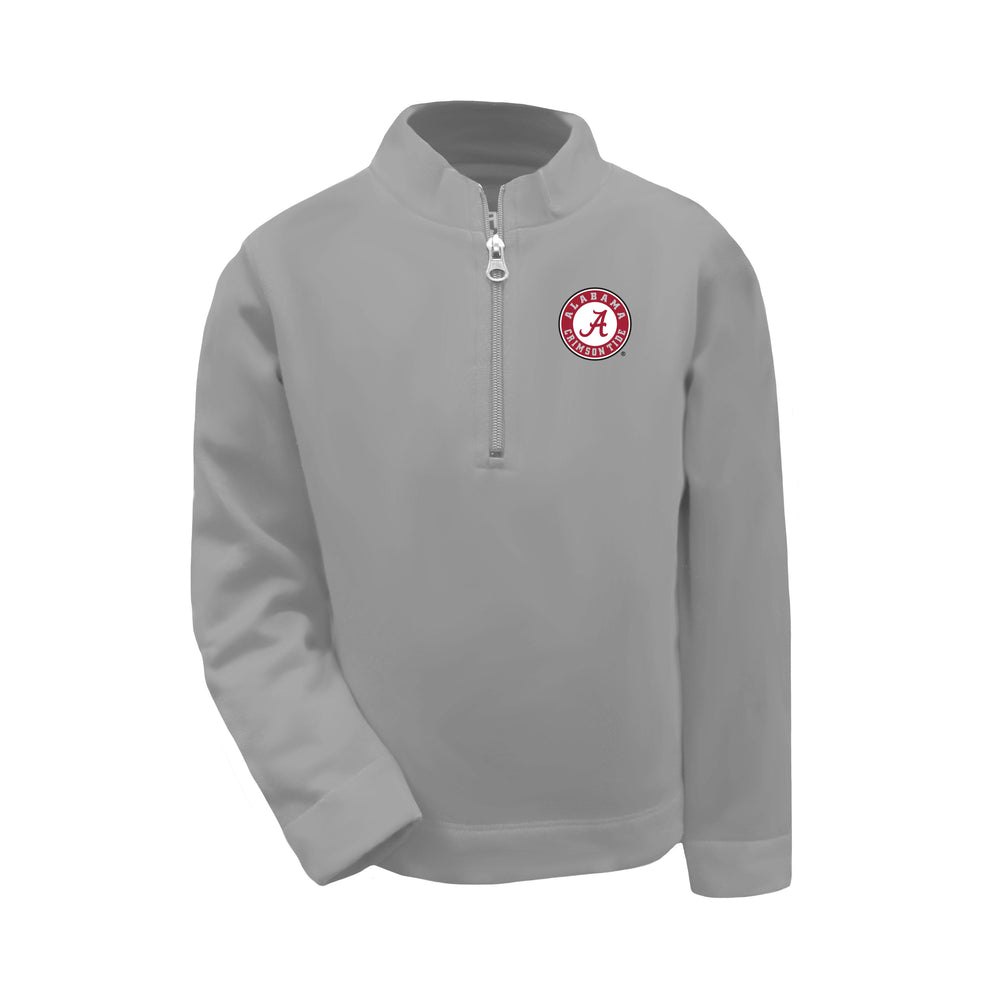 Alabama State Crimson Tide Toddler Boys 1/4 Zip Sweatshirt Pullover - Oxford Grey