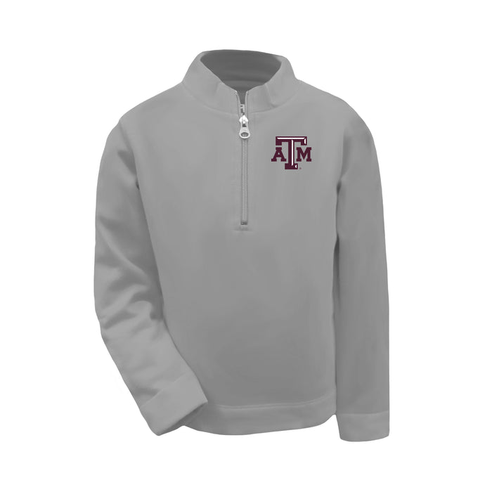 Texas A&M Aggies Toddler Boys 1/4 Zip Sweatshirt Pullover - Oxford Grey