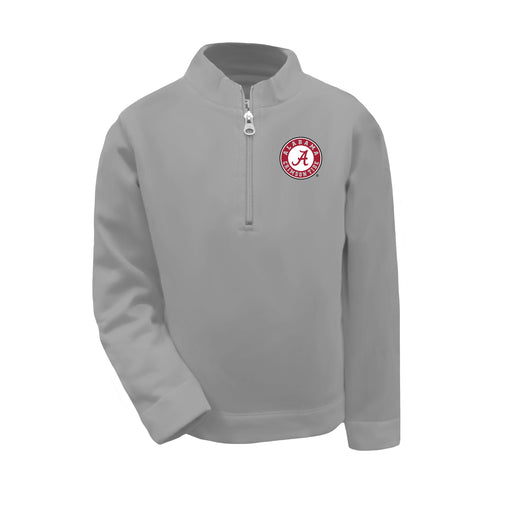 Alabama Crimson Tide Boys 1/4 Zip Sweatshirt Pullover - Oxford Grey